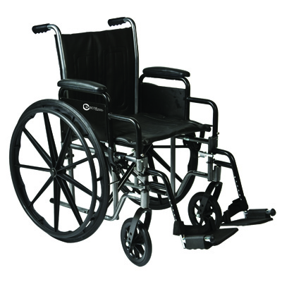 Roscoe Medical K2-Lite Wheelchair Color: Powder-coated silver vein k2st1816dhrsa