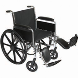 Roscoe Medical K3-Lite Wheelchair Color: Powder-coated silver vein k31816dhrel