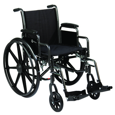 Roscoe Medical K3-Lite Wheelchair Color: Powder-coated silver vein k31616dhrsa