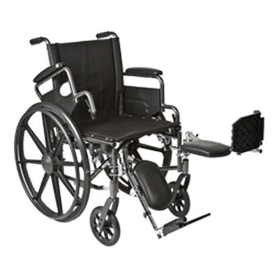 Roscoe Medical K4-Lite Wheelchair Color: Powder-coated silver vein k41616dhfbel