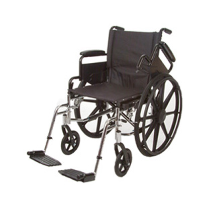 Roscoe Medical K4-Lite Wheelchair Color: Powder-coated silver vein k41616dhfbsa