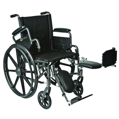Roscoe Medical K4-Lite Wheelchair Color: Powder-coated silver vein k42016dhfbel