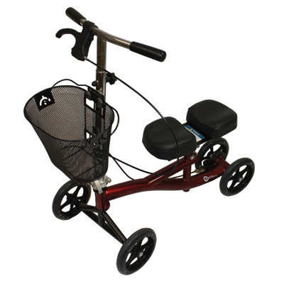Roscoe Medical Knee Scooter Color: Mahogany Red