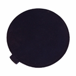 Roscoe Medical Poly Bag, 3 in Round, Black Rubber Electrode - 1 Pad
