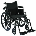 Roscoe Medical Reliance III Wheelchair Color: Powder-coated silver vein w31816s