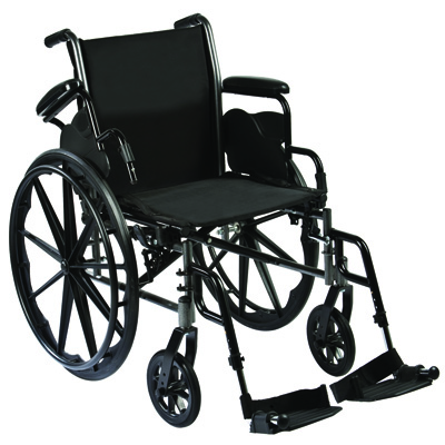 Roscoe Medical Reliance III Wheelchair Color: Powder-coated silver vein w31616e
