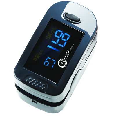 Roscoe Medical Two-Display Mode Pulse Oximeter Color: Gray
