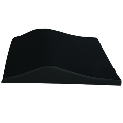 Roscoe Medical Wheelchair Back Cushions Color: Black 20 x 19 in