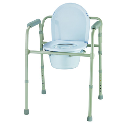 Roscoe Medical Three-In-One Folding Commode Color: Gray