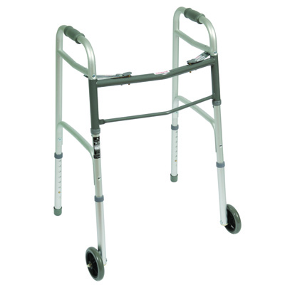 Roscoe Medical Two Button Walkers Color: Gray ROS-WK-42351-4