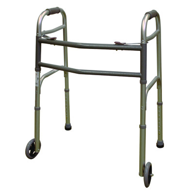 Roscoe Medical Two Button Walkers Color: Gray wk450w