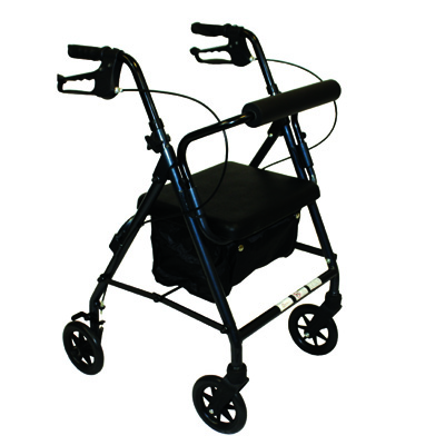 Roscoe Medical Z600J Junior Rollator with Padded Seat Color: Blue