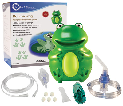 Roscoe Medical Pediatric Frog Nebulizer with TruNeb Reusable Neb Kit