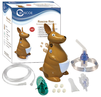 Roscoe Medical Pediatric Roo Nebulizer Compressor with TruNeb Reusable Neb Kit