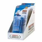 Safety-Shield Pill Cutter Stainless Steel Blade Blue / White