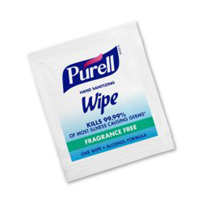 Sanitizing Skin Wipe Purell Individual Packet Alcohol (Ethyl) Alcohol Scent 1 Count - 9021-1M