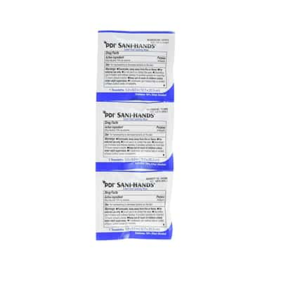 Sanitizing Skin Wipe Sani-Hands Individual Packet Ethyl Alcohol Unscented 1 Count