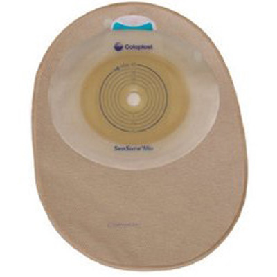 SenSura Mio Filtered Ostomy Pouch One-Piece System 7 in Length, Midi 5/8 to 1-3/4 in Stoma Closed End Flat, Trim to Fit