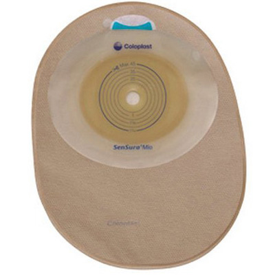 SenSura Mio Filtered Ostomy Pouch One-Piece System 8-1/2 in Length, Maxi 5/8 to 1-3/4 in Stoma Closed End Flat, Trim to Fit