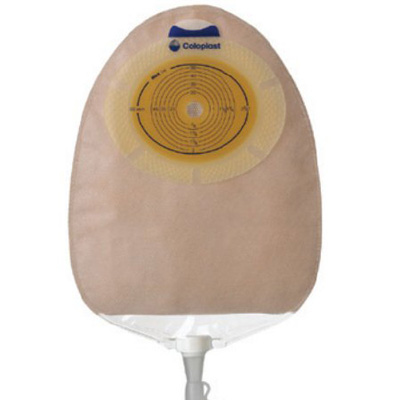 SenSura Urostomy Pouch One-Piece System 10-3/8 in Length, Maxi 5/8 to 1-5/16 in Stoma Drainable Convex Light, Trim to Fit