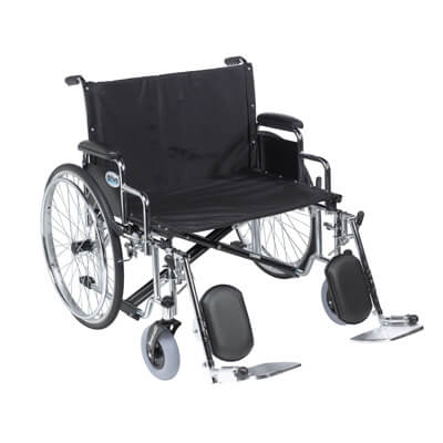 Drive Medical Sentra EC Heavy Duty Extra Wide Wheelchair, Detachable Desk Arms, Elevating Leg Rests, 30 in Seat