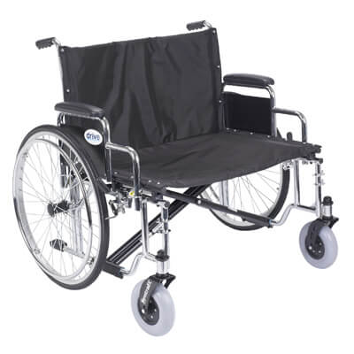 Drive Medical Sentra EC Heavy Duty Extra Wide Wheelchair with Detachable Desk Arms std30ecdda