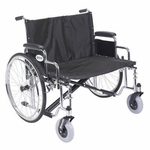 Drive Medical Sentra EC Heavy Duty Extra Wide Wheelchair with Detachable Desk Arms Model std30ecdda
