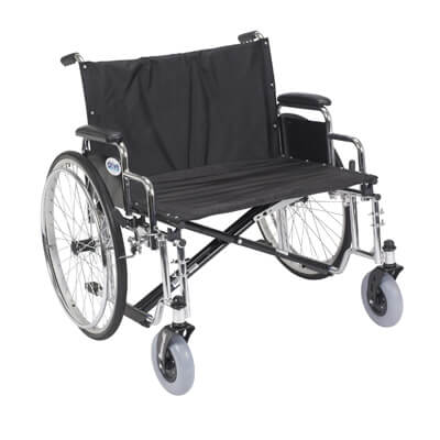 Drive Medical Sentra EC Heavy Duty Extra Wide Wheelchair with Detachable Desk Arms Model std28ecdda