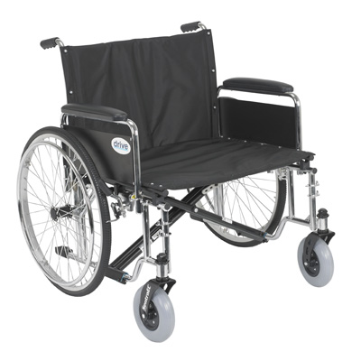 Drive Medical Sentra EC Heavy Duty Extra Wide Wheelchair with Detachable Full Arms Model std26ecdfa