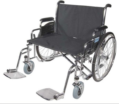 Drive Medical Sentra EC Heavy Duty Extra Wide Wheelchair with Detachable Full Arms std30ecdfa