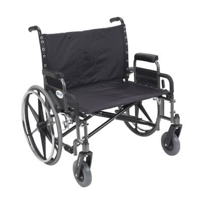 Drive Medical Sentra Heavy Duty Wheelchair with Detachable Desk Arms std30dda
