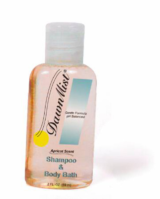 Dawn Mist 2 oz. Squeeze Bottle Apricot Scent Shampoo and Body Wash - Case of 144