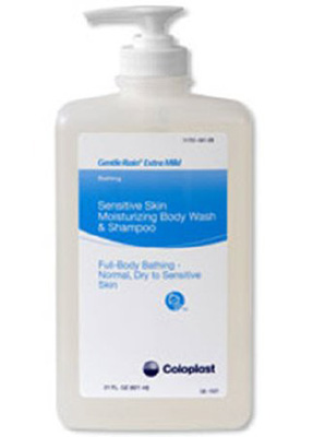Coloplast Gentle Rain Shampoo and Body Wash Extra Mild 21 oz. Bottle Scented - Case of 12