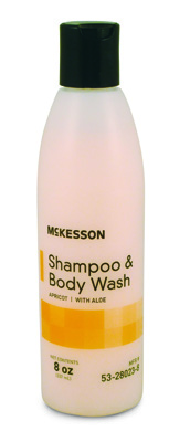 Shampoo and Body Wash McKesson 8 oz. Squeeze Bottle Apricot Scent