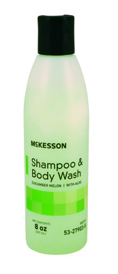 Shampoo and Body Wash McKesson 8 oz. Squeeze Bottle Cucumber Melon Scent