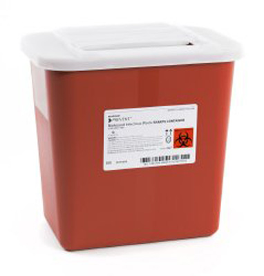 Sharps Container McKesson Prevent 10.25 H X 7 W X 10.5 D Inch 2 Gallon Red Base