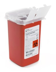 Sharps Container McKesson Prevent 6.25 H X 4.25 W X 4.25 D Inch 1 Quart Red Base