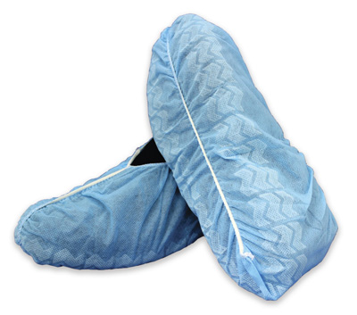 Shoe Cover McKesson One Size Fits Most Shoe-High Non-Skid Blue NonSterile