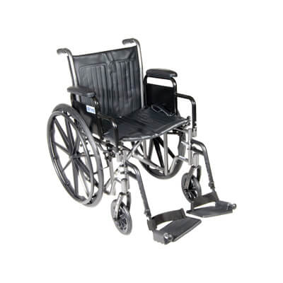 Drive Medical Silver Sport 2 Wheelchair with Detachable Desk Arms and Swing Away Footrest ssp218dda-sf