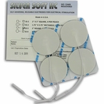 DuraTENS (SilverSoft HC Premium) TENS Silver Electrodes 2 in Round, White Foam Backed - 4 Pads