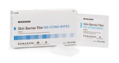 Skin Barrier Wipe McKesson Individual Packet 2.4 X 2.4 Inch Sterile
