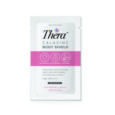 Skin Protectant Thera Calazinc Body Shield 4 Gram Individual Packet Scented Cream