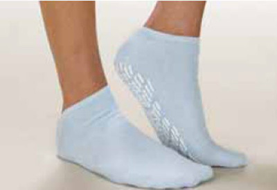 Slipper Socks Care-Steps Adult 2 X-Large Blue Above the Ankle