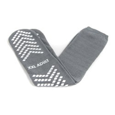 Slipper Socks McKesson Adult 2X-Large Gray Above the Ankle