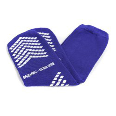 Slipper Socks McKesson Bariatric, Extra Wide Royal Blue Above the Ankle