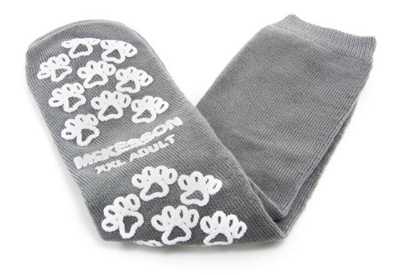 Slipper Socks McKesson Terries Adult 2X-Large Gray Above the Ankle