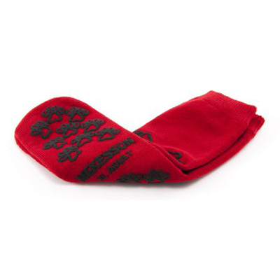 Slipper Socks McKesson Terries Adult X-Large Red Above the Ankle