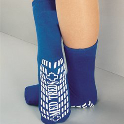 Slipper Socks MedTreds Royal Blue Mid-Calf