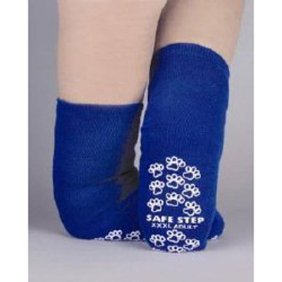 Slipper Socks Pillow Paws Bariatric 3 X-Large Royal Blue Ankle High