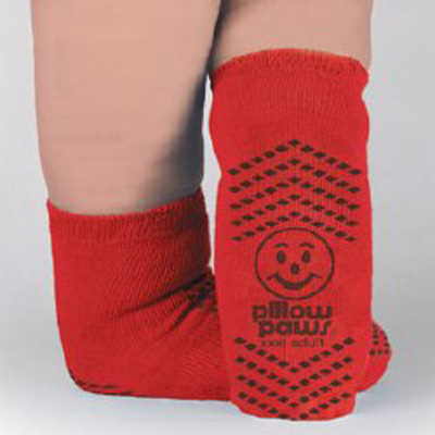 Slipper Socks Terries 3X-Large Red Bariatric